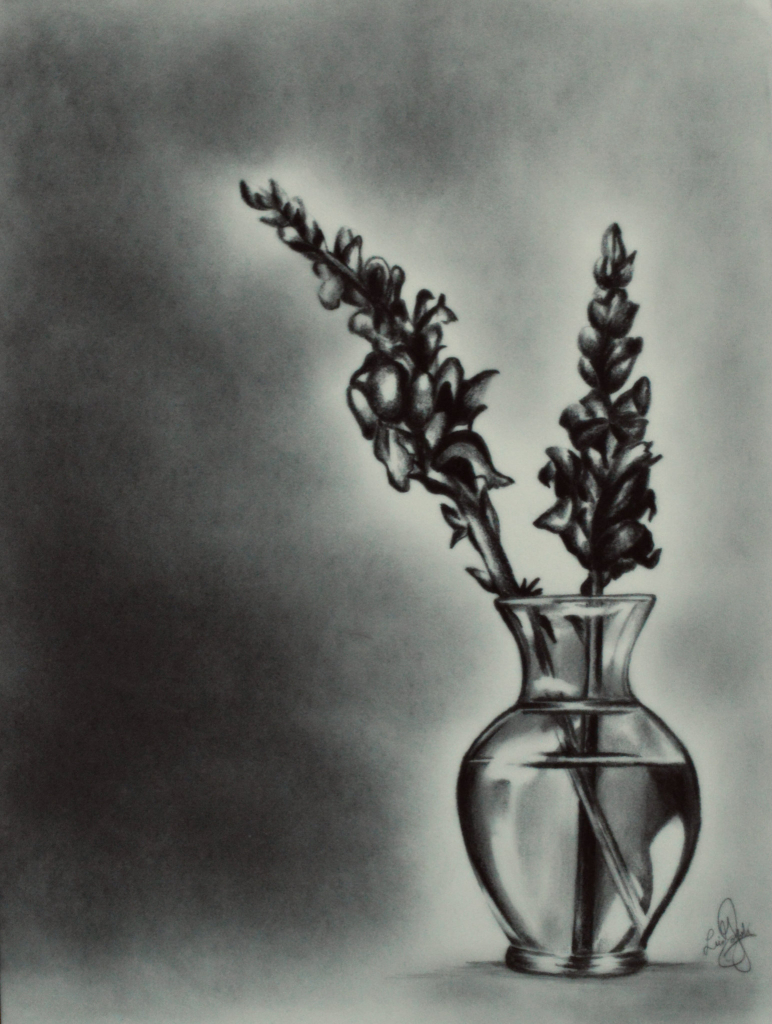 Drawn vase pencil drawing To Vase In #flowers Drawing