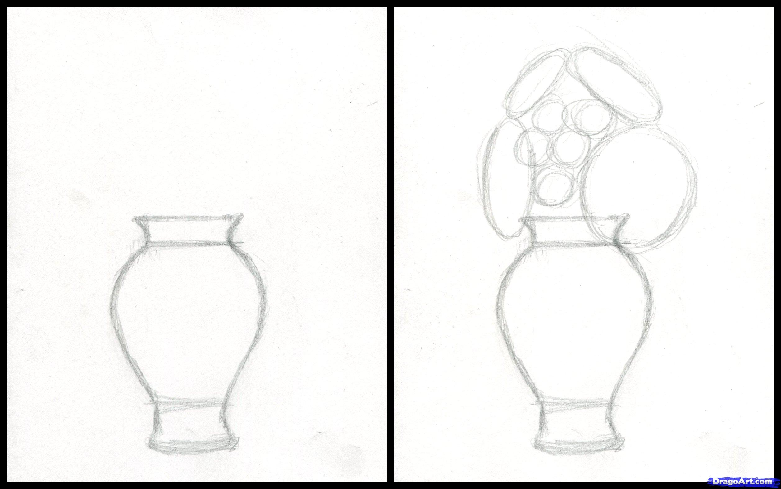 Drawn vase pencil drawing 2 Realistic Step Drawing how