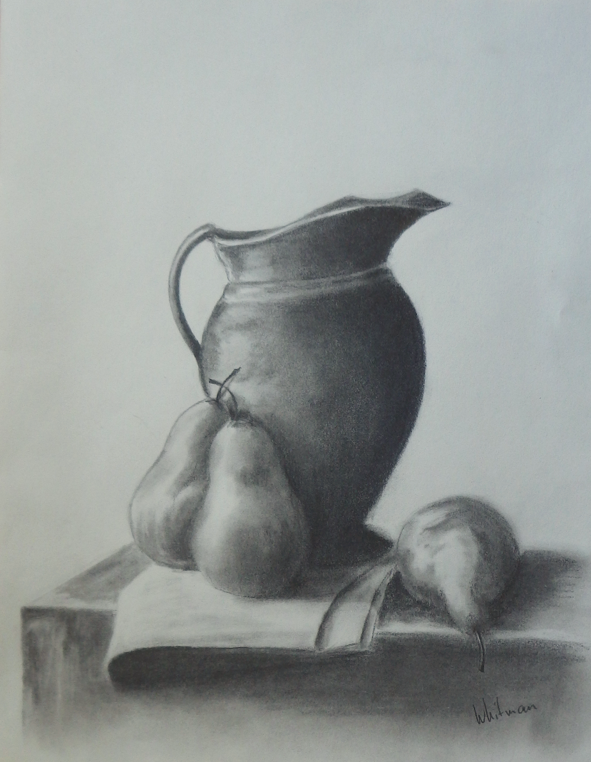 Drawn still life graphite By drawing with life sketch