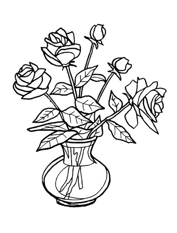 Drawn vase real flower Of free vases pagefull flower