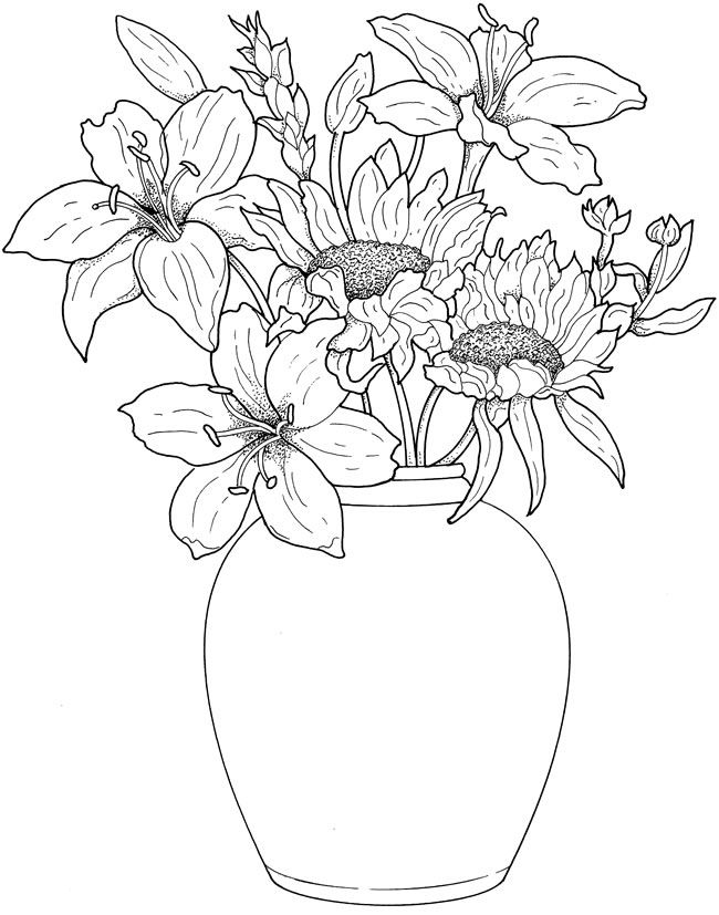 Drawn vase real flower Flowers this more images Flowers