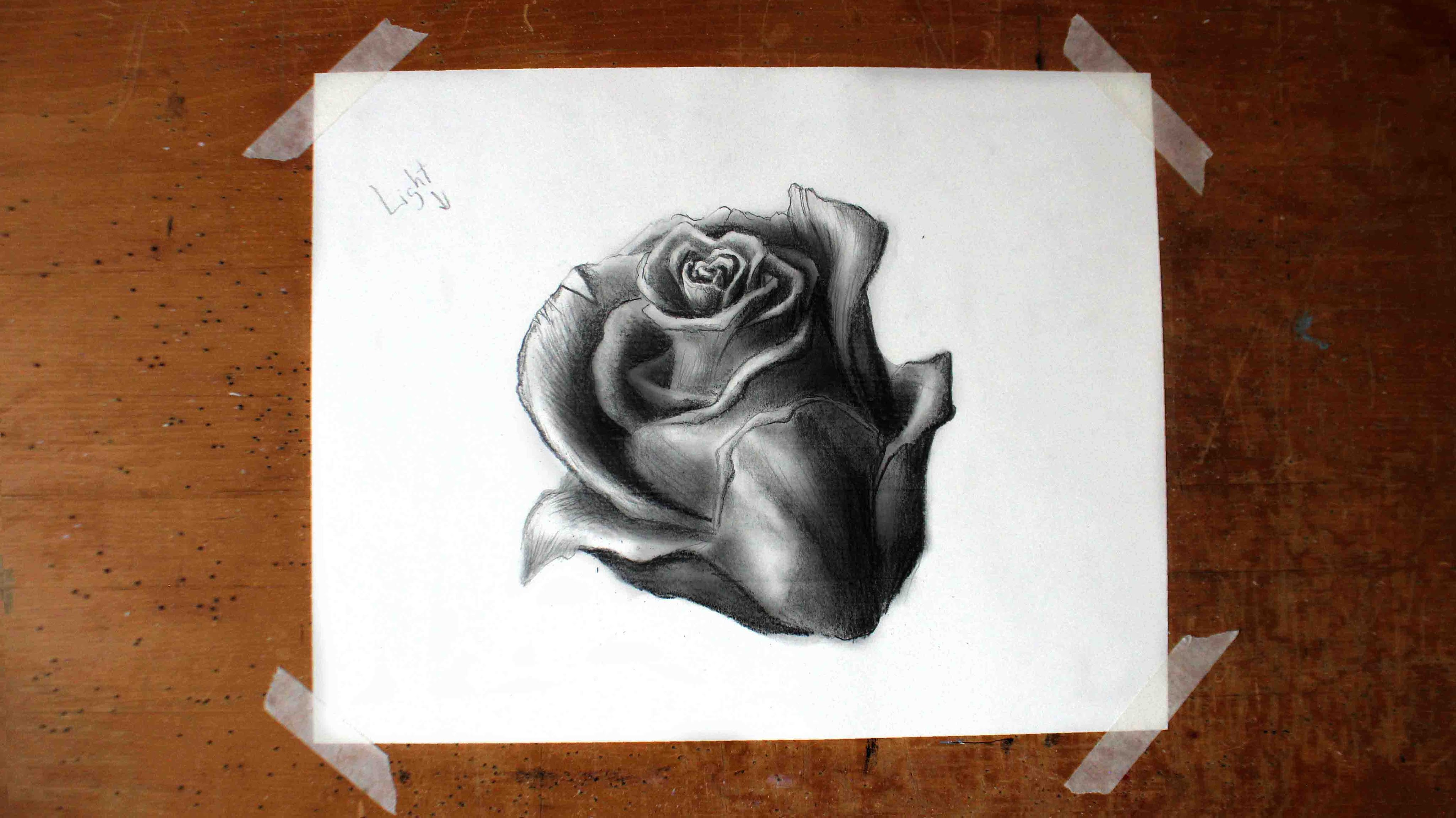 Drawn rose realistic For Tutorial YouTube to a