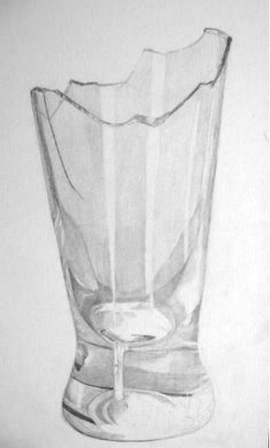 Drawn vase realistic Broken realistic glass  How