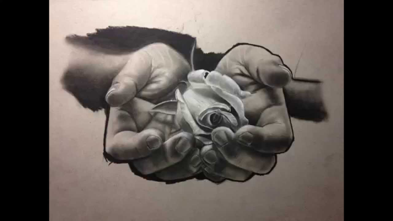 Drawn rose charcoal drawing Charcoal drawing drawing rose for