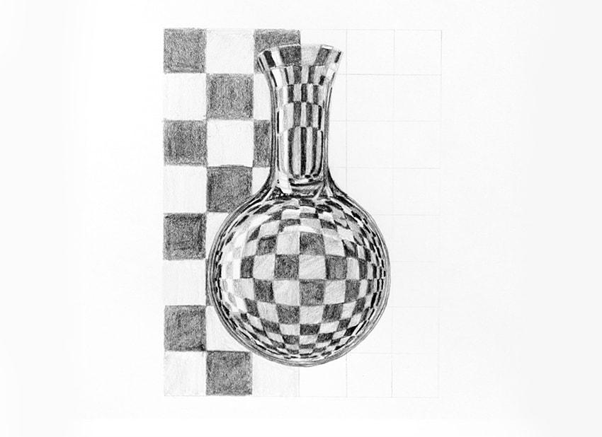 Drawn vase realistic Glass glass How to Draw