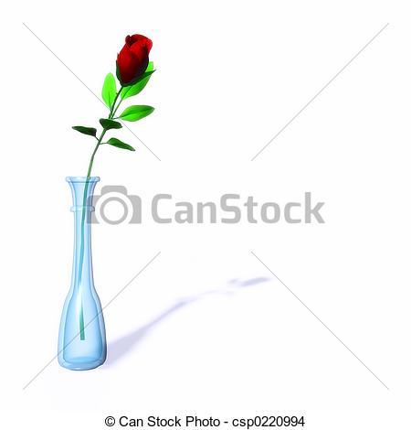 Drawn vase red rose Vase csp0220994 Single Vase in
