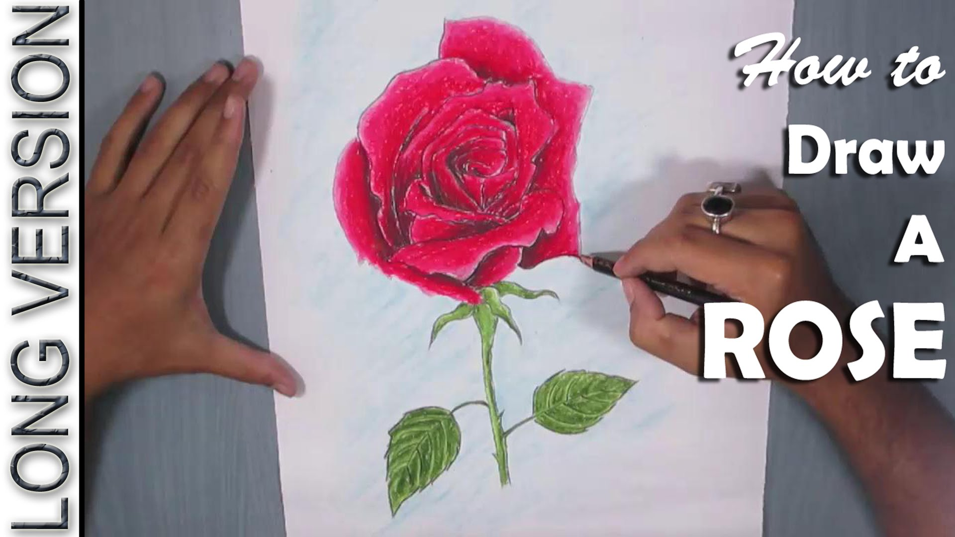 Drawn rose pastel drawing Pastel with  to How