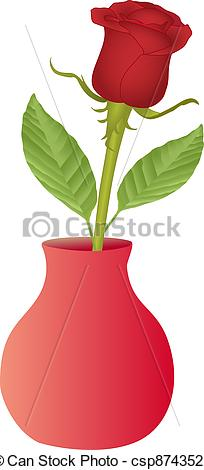 Drawn vase red rose Vase Vectors rose Search in