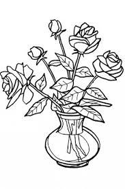 Drawn vase rose Google Roses of vase drawing
