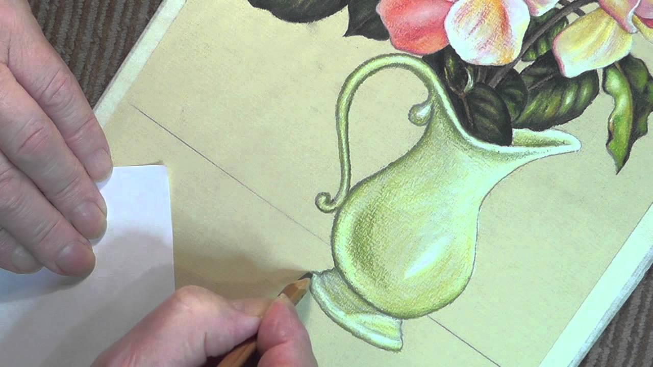 Drawn vase rose YouTube Roses Tutorial Vase Roses