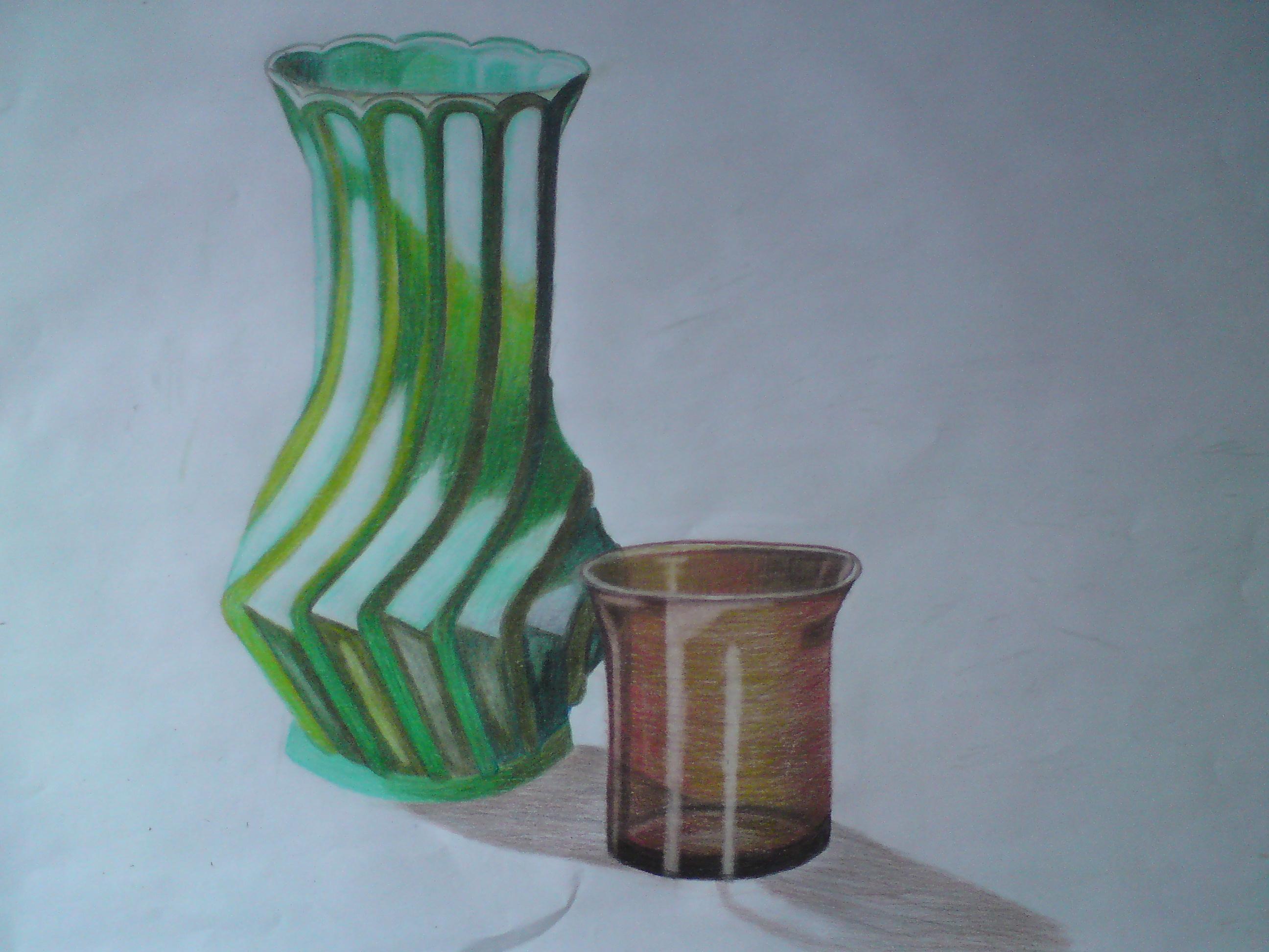 Drawn vase shadow And work assignment Ektah OCA