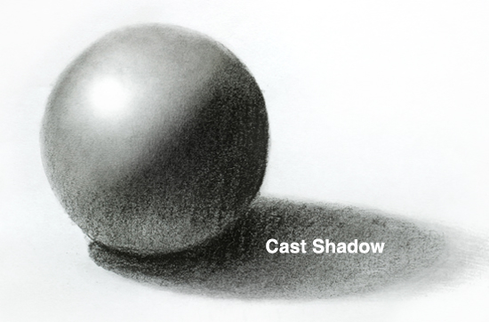 Drawn vase shadow With form pencil to How