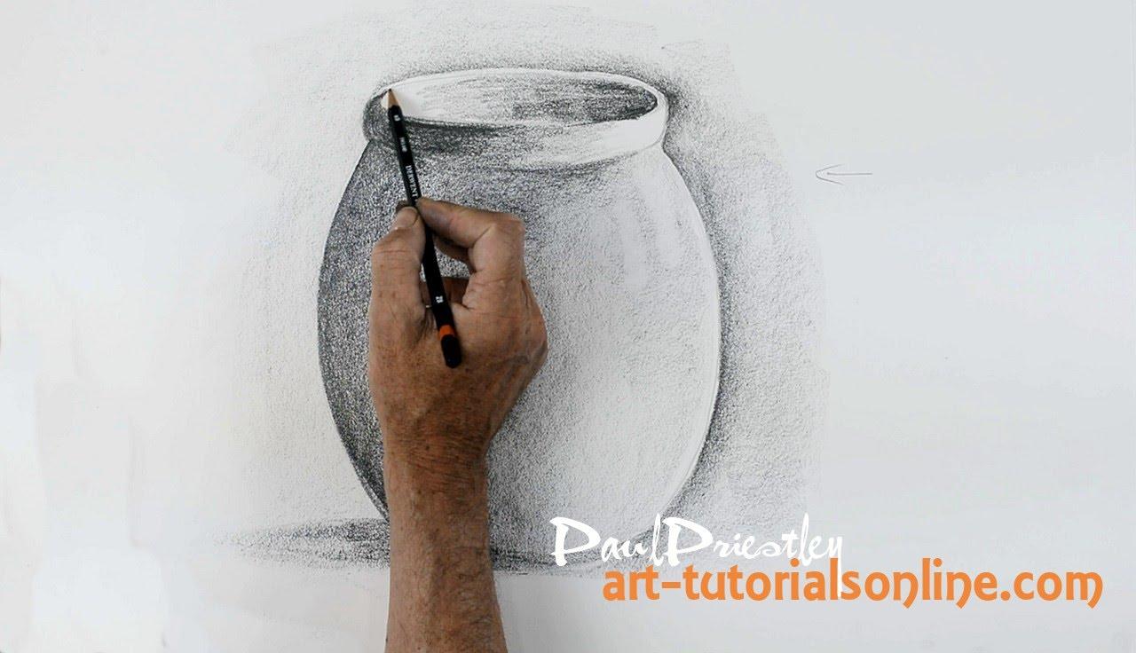 Drawn vase shadow A pot simple Start pot