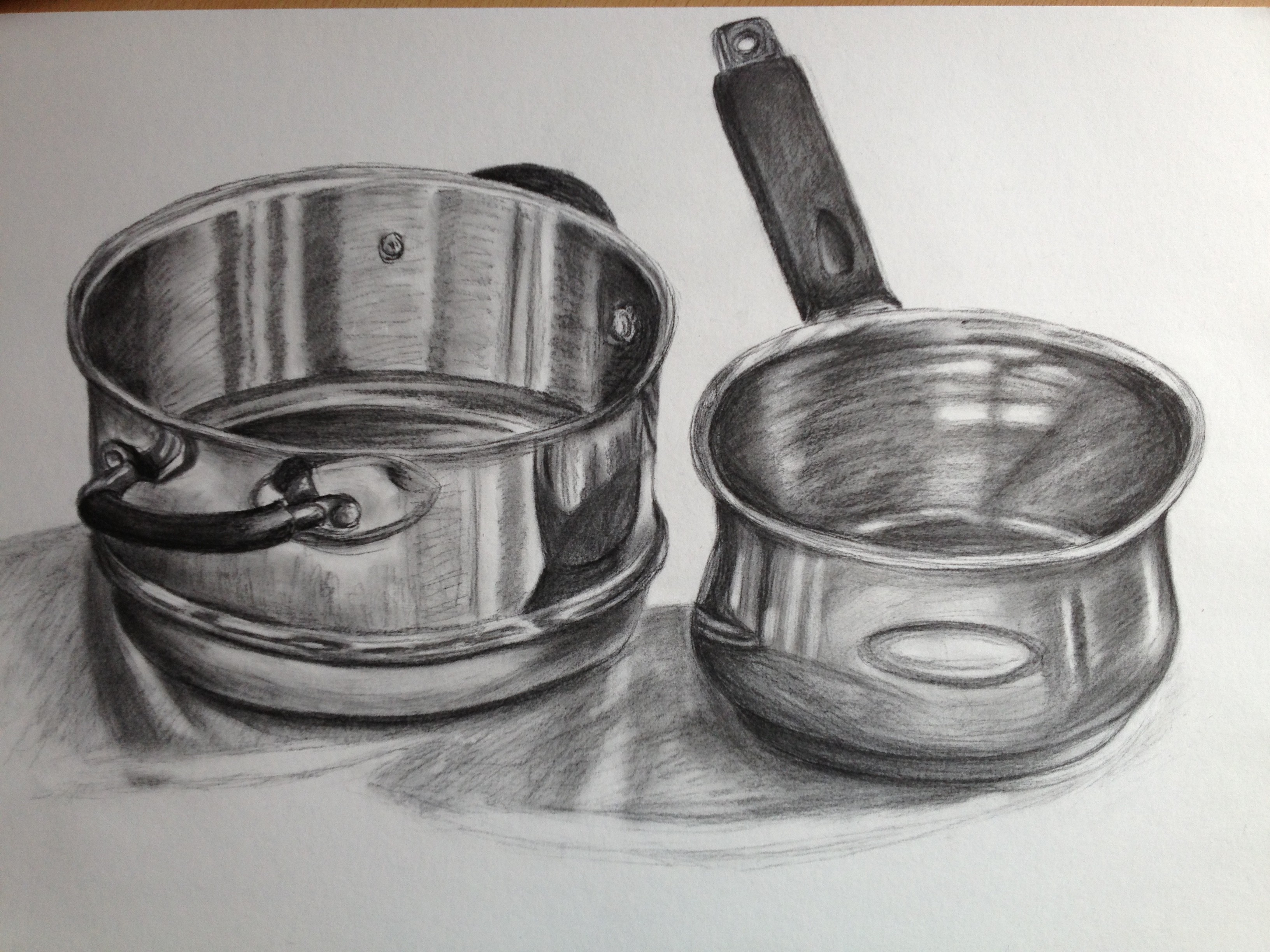 Drawn vase shadow (Hons) Arts Creative – Coursework