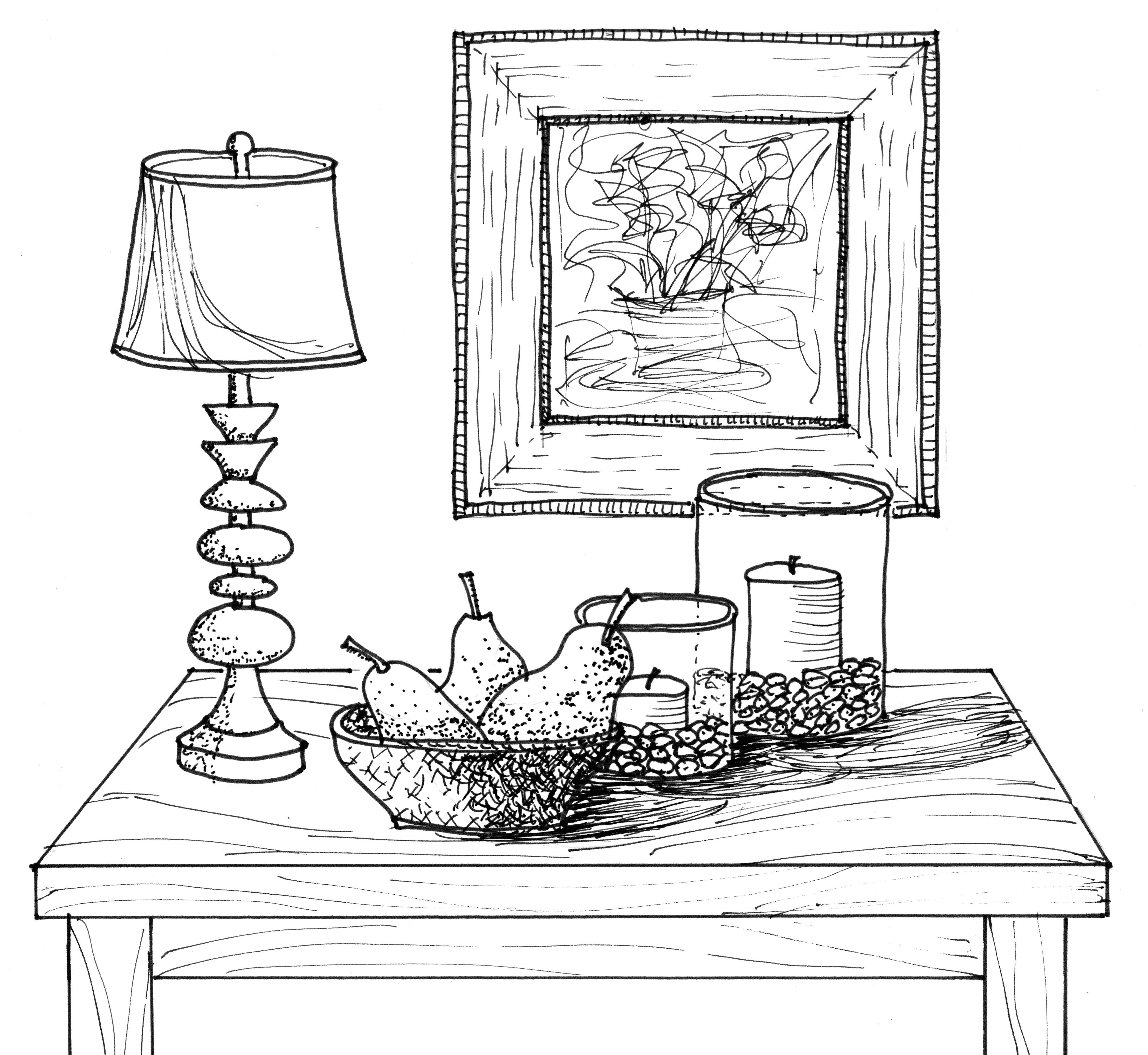 Drawn vase shadow Shadow & Drawing it Put