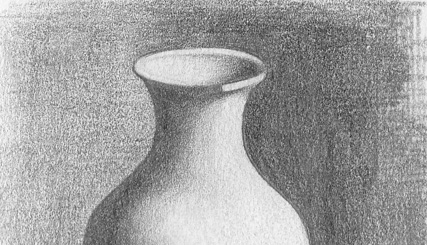 Drawn vase shadow Design MARSTUDIO :: Sketches Vase