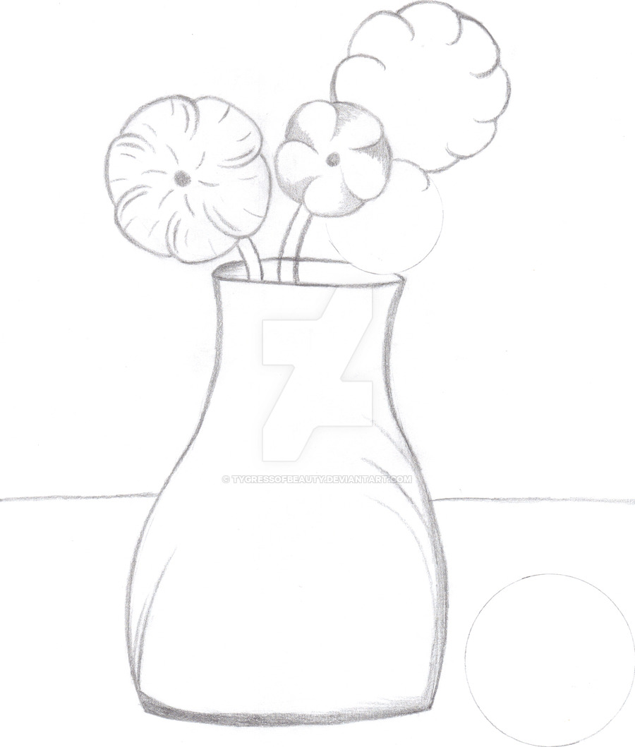 Drawn vase simple #1