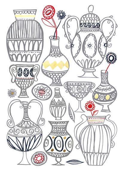 Drawn vase simple 17 Best Ideas on Kid's
