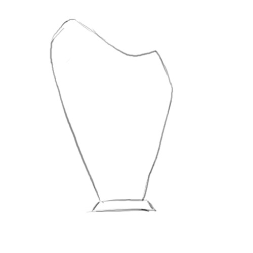 Drawn vase simple #11