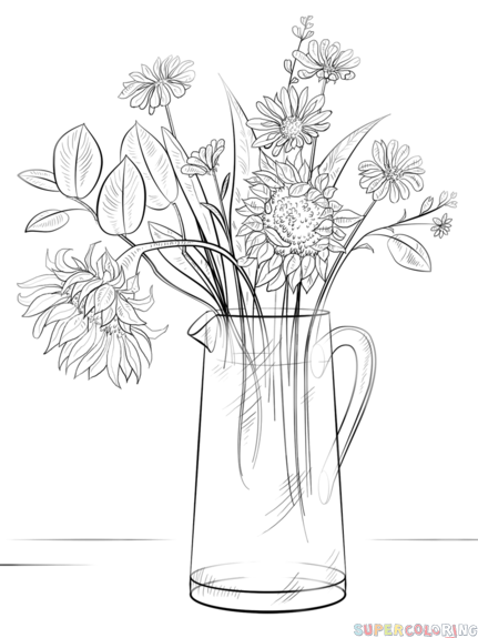 Drawn bouquet To Step of of tutorials