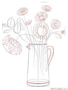 Drawn anchor step by step Bouquet tutorials a step to