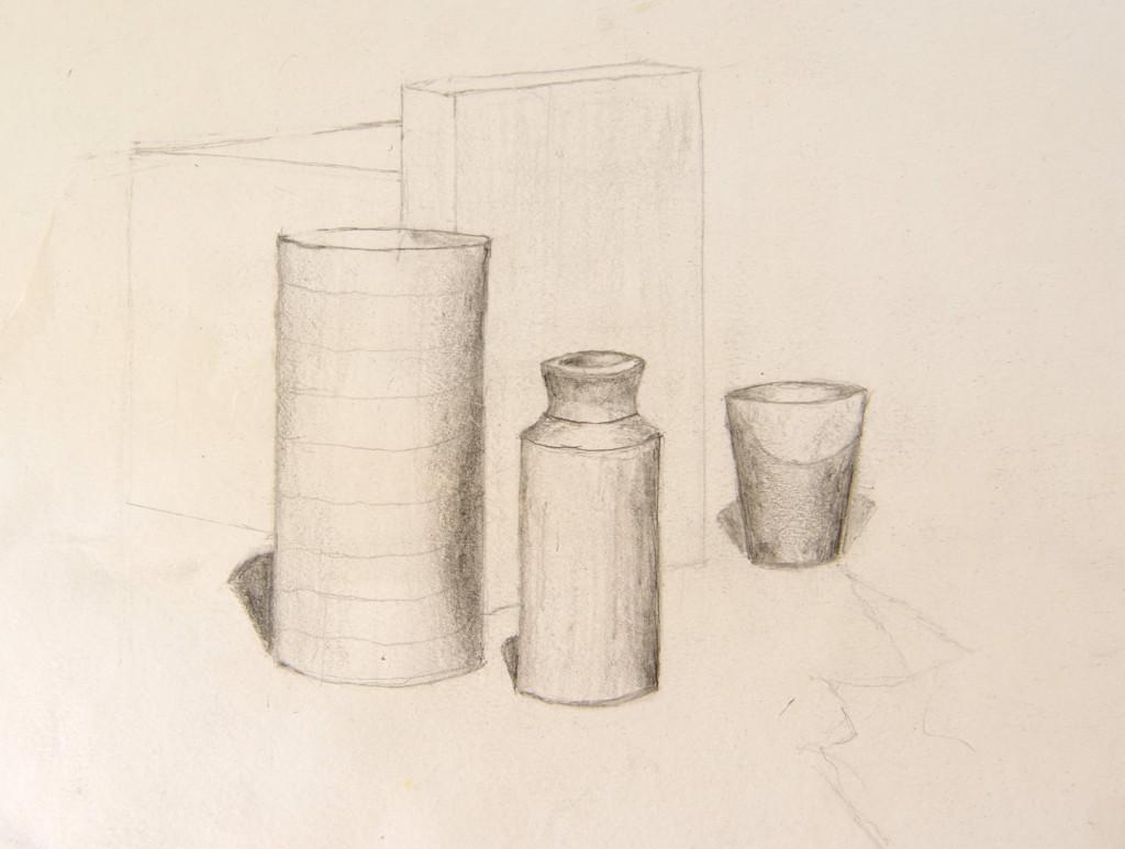 Drawn vase still life Of drawing life pencil Still