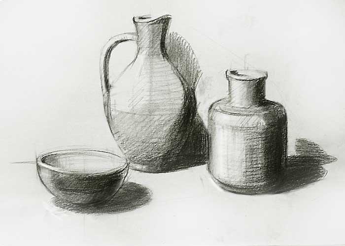 Drawn vase still life Still of How drawing Life