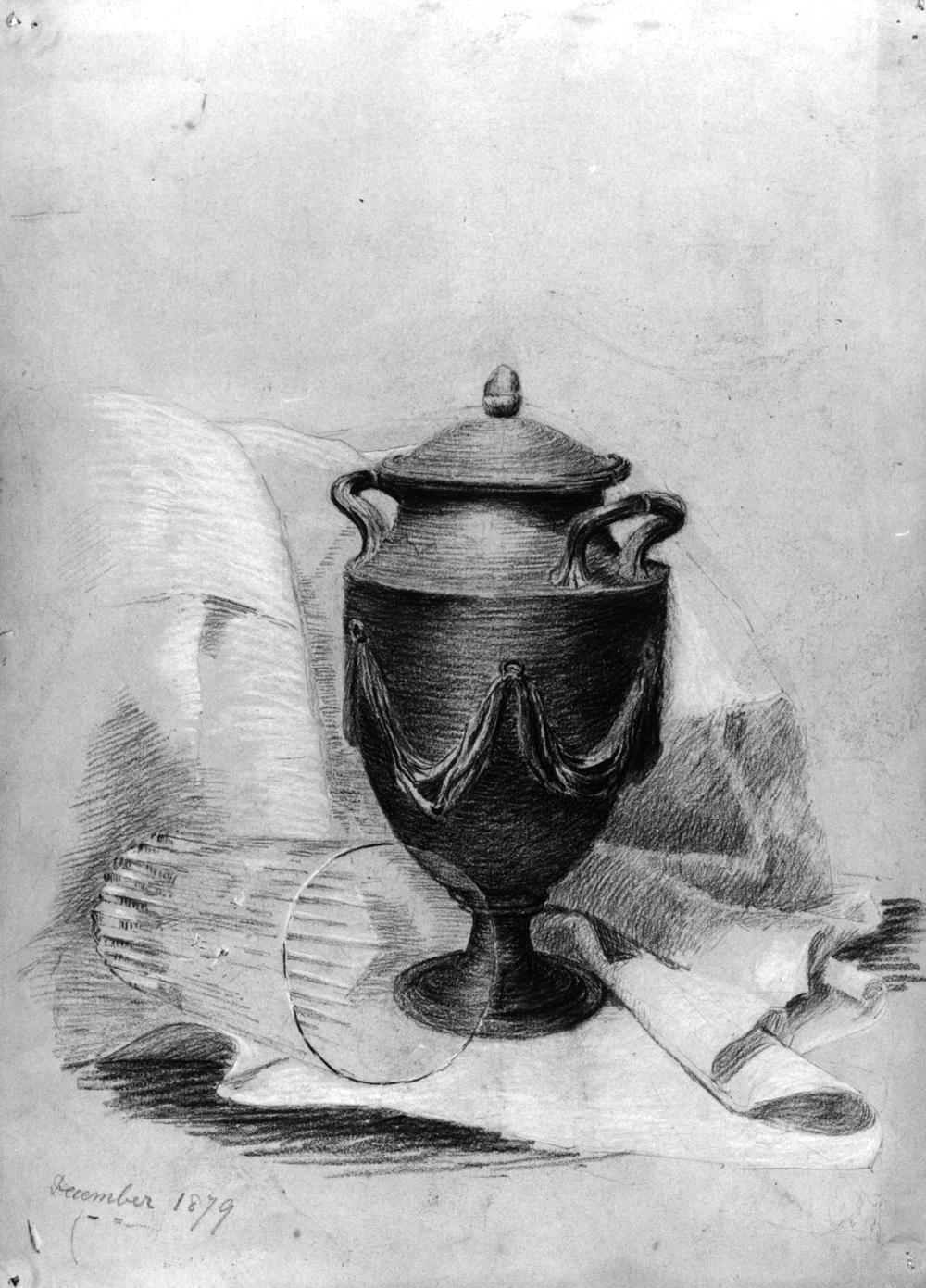Drawn vase still life Life Still in Potter exercise