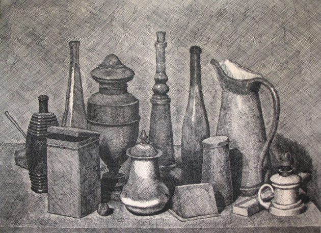Drawn vase still life Life still ideas Morandi drawing