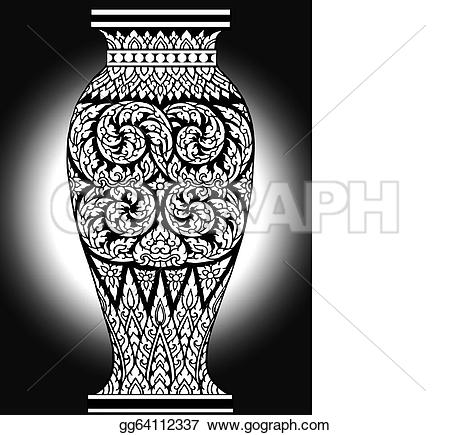 Drawn vase triangle Pattern Stock flowers murals Clipart