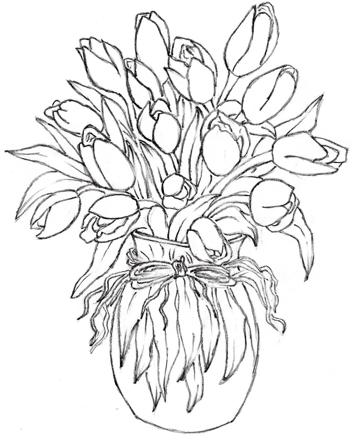 Drawn vase triangle Flower  Vase glass For