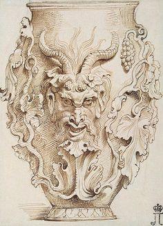 Drawn vase wash Of Rubens 1592 Magdalen Paul