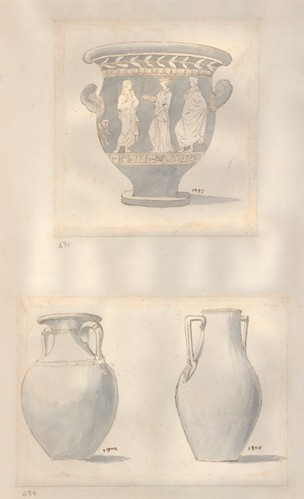 Drawn vase wash Side no drawing the in