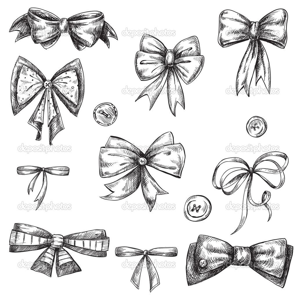 Drawn ribbon ribbon bow Drawing tattoo photo  Bow