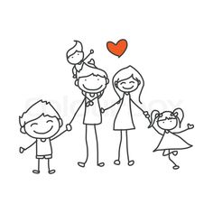 Drawn vector Stock family vector Stock playing'