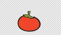 Drawn vegetable animation Stock  Poop Tomato color