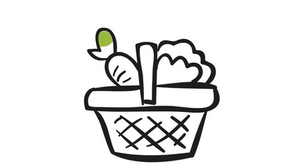 Drawn vegetable animation Search by 0:09 animation hand