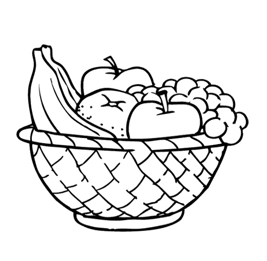 Vegetables clipart basket drawing Pinterest to info vegetables fruit