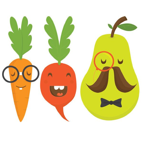 Drawn vegetable cute Some veg 20+ for made