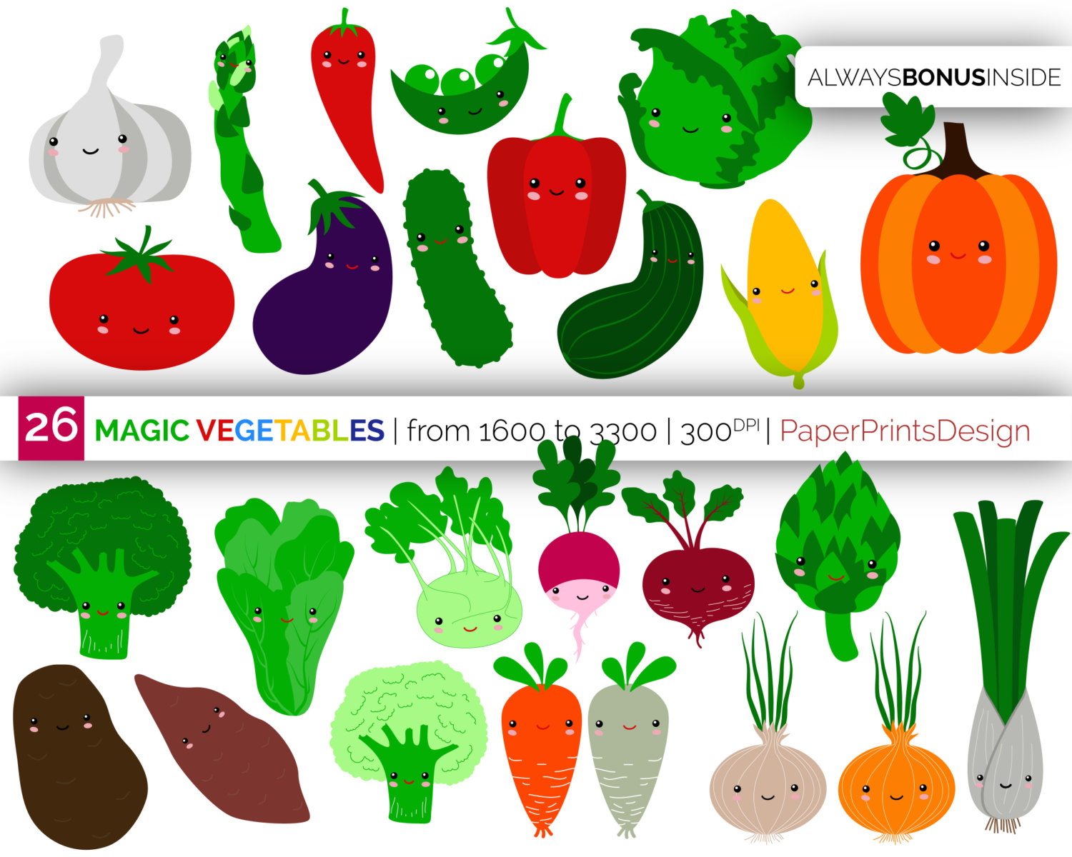 Broccoli clipart veggie Food clipart Kawaii vegetables veggies