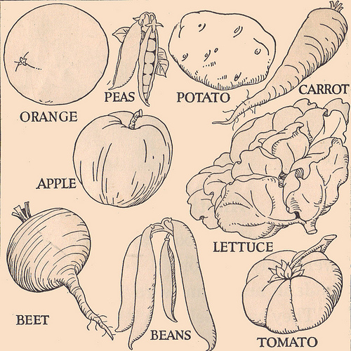 Drawn vegetables easy Drawings line and Vegetable drawings