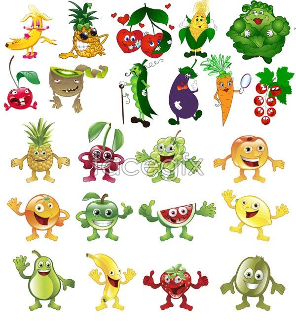 Drawn vegetables fruit and vegetable Best images and Fruits 58