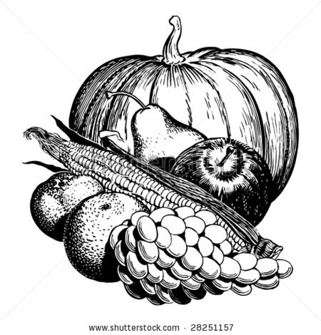 Harvest clipart green pumpkin From and of fruit white