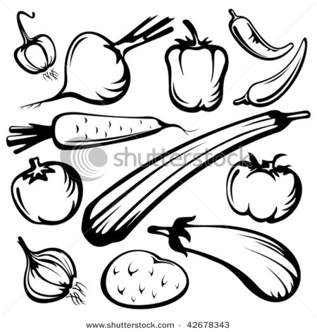 Drawn vegetable line art Vegetables  Google Google drawing