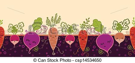 Drawn vegetable root vegetable Of vegetables Clipart  pattern