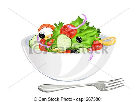 Drawn vegetable vegetable salad Csp12673801 csp12673801 Fresh salad vegetarian