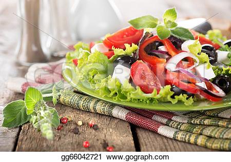 Drawn vegetable vegetable salad On Vegetable table wooden Drawing