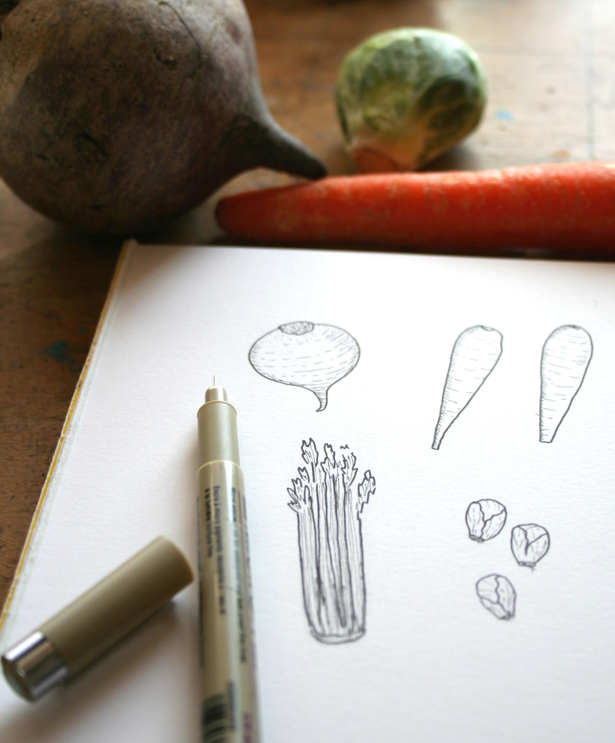 Drawn vegetable veggie Vegetables How Draw Art Vegetables