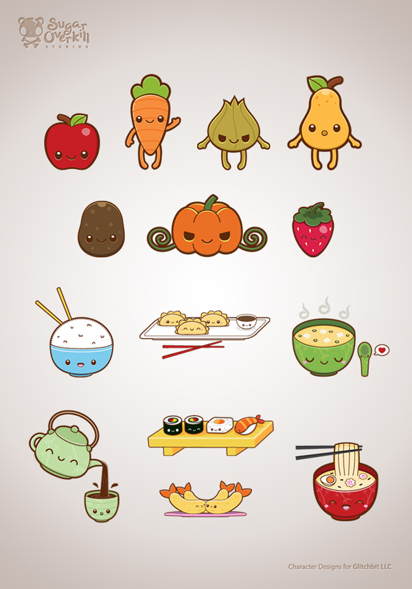 Drawn vegetables cute By Set Liza by Behance
