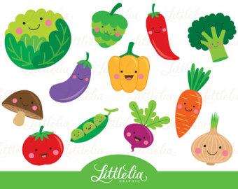 Drawn vegetables cute Veggie Vegetables Etsy vegetable 15063